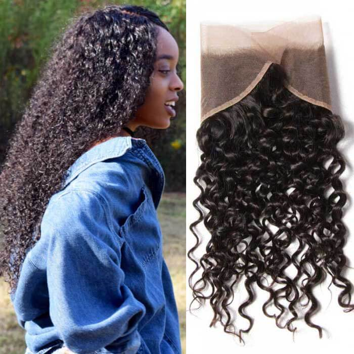 Curly Remy Human Hair 13X4 Lace Frontal