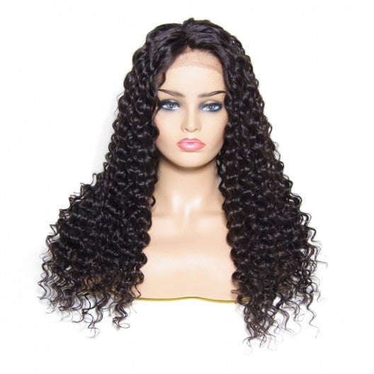 Deep Wave Human Hair Lace Front Wigs