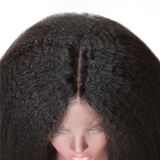 Kinky Straight Human Hair 360 Lace Wigs