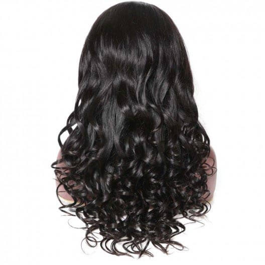 Natural Wave Human Hair 360 Lace Wigs