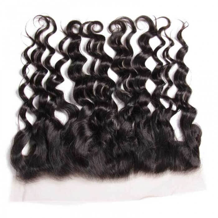 Natural Wave Remy Human Hair 13X4 Lace Frontal