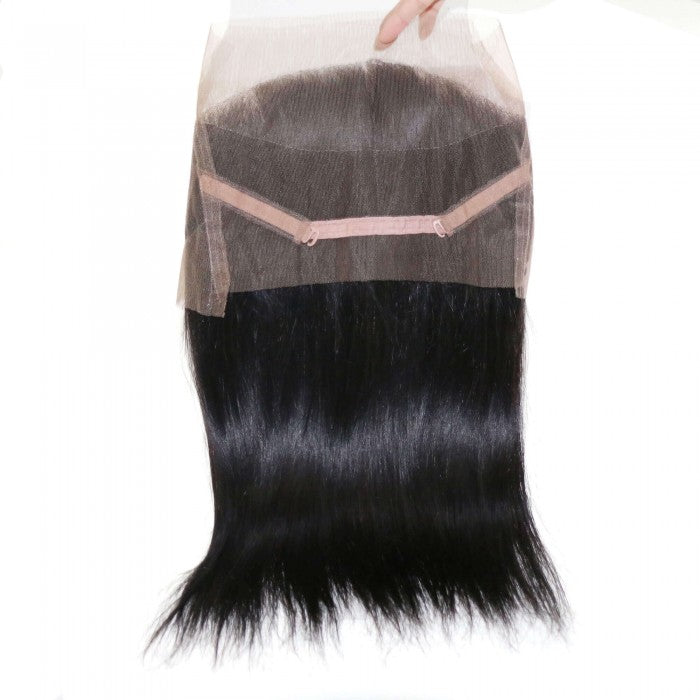Straight Remy Human Hair 360 Lace Frontal Closure