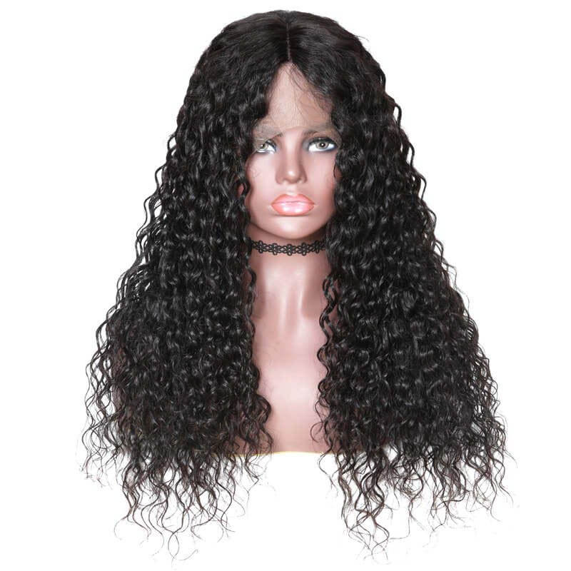 Water Wave Human Hair 360 Lace Wigs