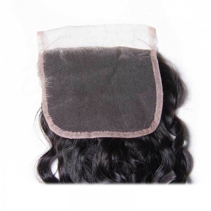 Water Wave Remy Human Hair 4X4 Lace Closure