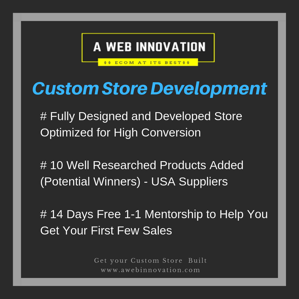Get a Custom Store Built in a Niche of Your Choice