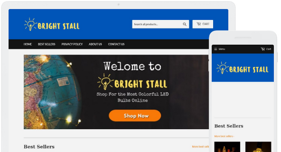LED Colorful Bulbs and Lamps Shop