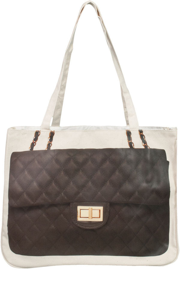 Diamonds Together Bag, Charcoal