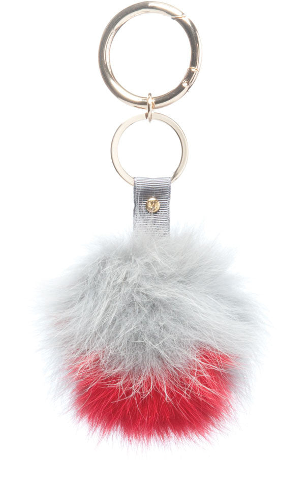 Home Keyring, Grey/Red