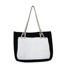 Classics - City Tote - White on Black