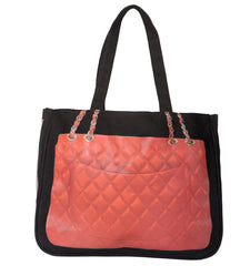 Diamonds Together Bag, Scarlet on Black