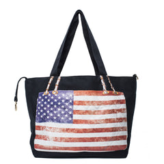 Something Flag Bag USA on Black