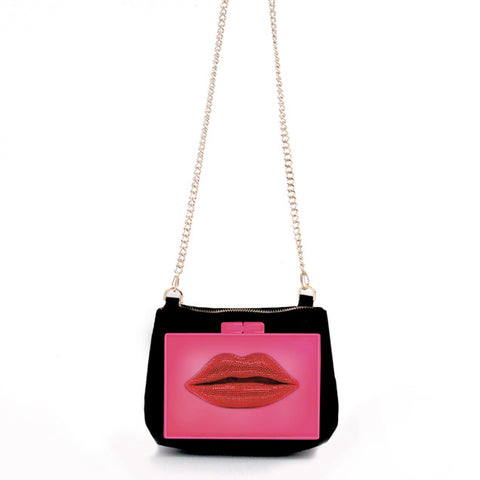 Lips - Anywhere - Pink on Black