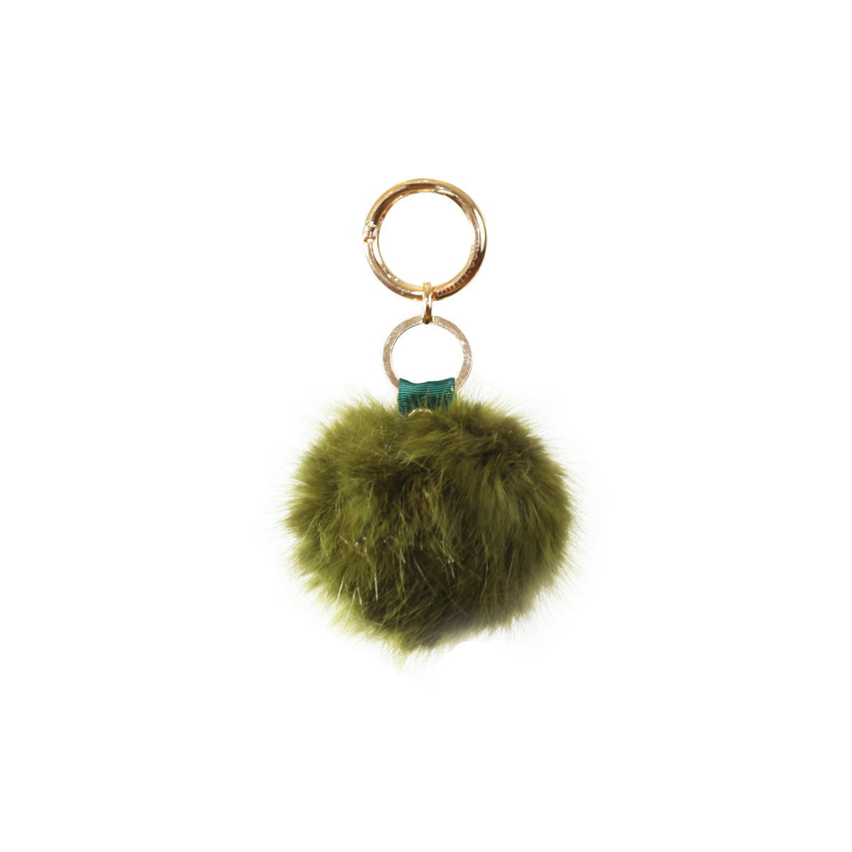 Fluffy - Pompon Key Chain - Military Green