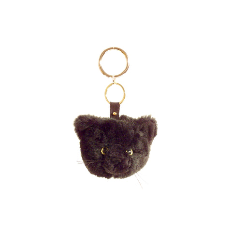 Shelter Keyring, Black Cat