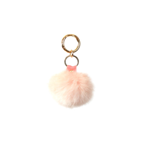 Fluffy - Pompon Key Chain - Light Pink
