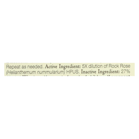 Image of Bach Flower Remedies Essence Rock Rose - 0.7 Fl Oz