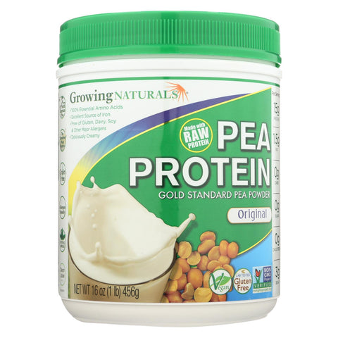 Image of Growing Naturals Yellow Pea Protein - Original - 16 Oz
