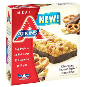 Atkins Advantage Bar - Chocolate Peanut Butter Pretzel - 5 Ct - 1.7 Oz