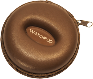WATCHPOD Single Watch Travel Case Brown
