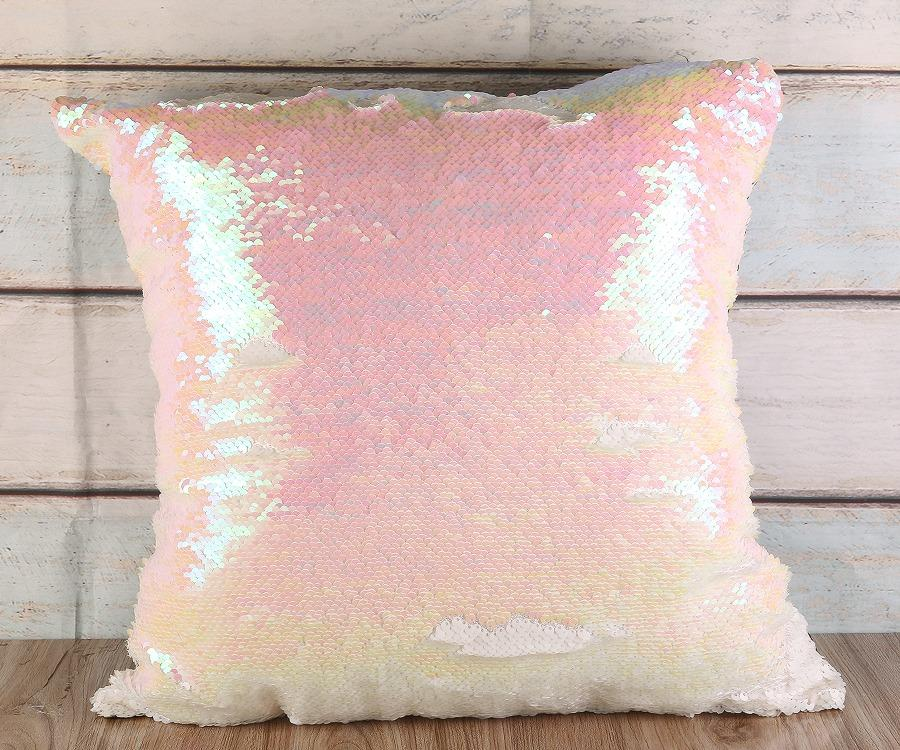 Sequin Plain Pink Cushion