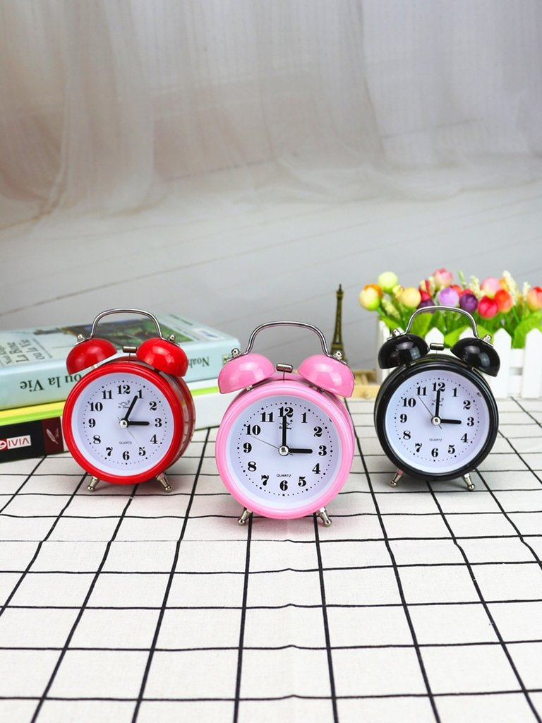 Desk Clock Simple Round Classic Light Night Home Decorative Clock