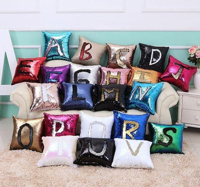 Sequin Name Alphabet Pillow