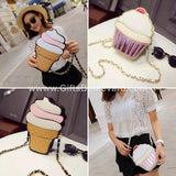 Ice Cream And Cupcake Cross body Bags