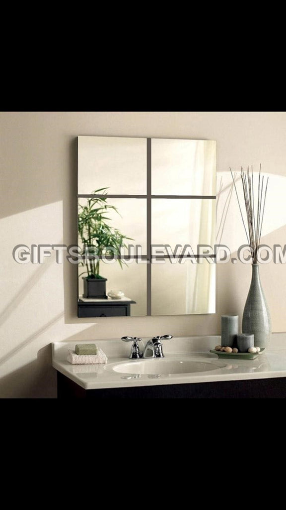 DIY Modern 3D Mirror Wall Sticker Home Decor Living Room Wall Decal Art Mural Bathroom Decorative WallPaper