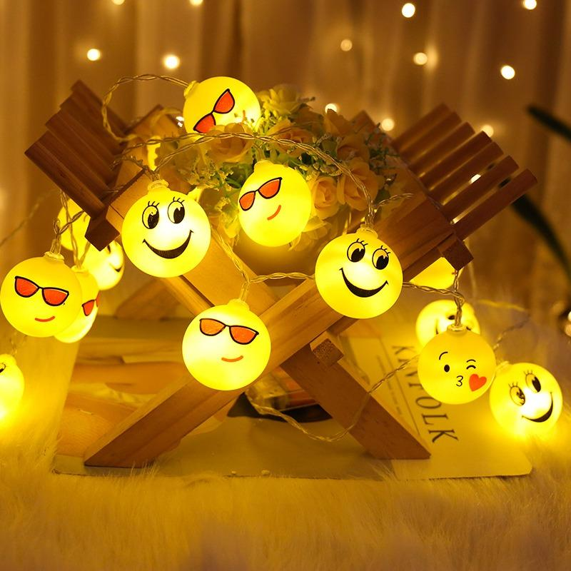 Emoji Emotion LED Fairy Light Cell Operated 2M Long