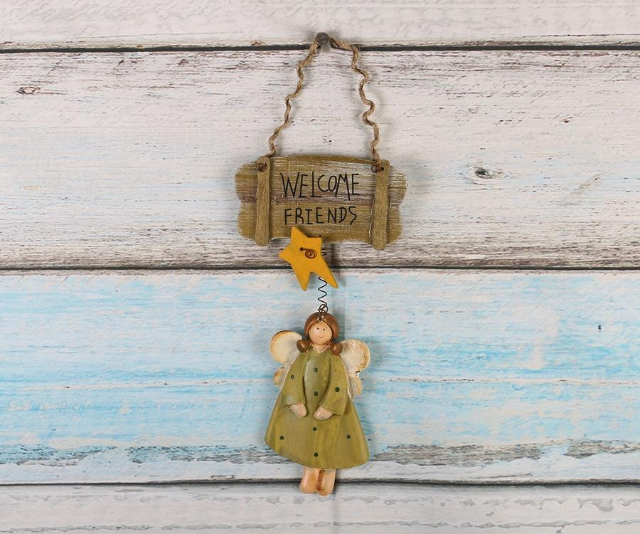 Welcome Friend Wall Hanging Plaque  Home Decorative