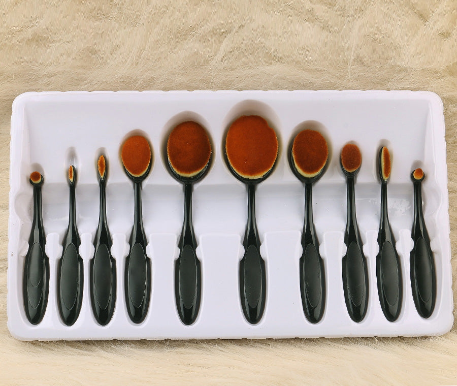 Pack Of 10 Oval Brush Set