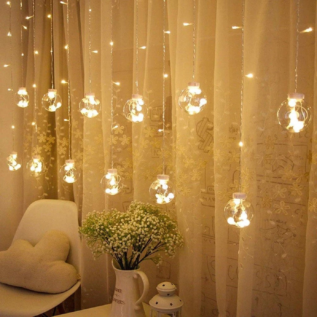 Berry Balls Curtain Fairy Lights