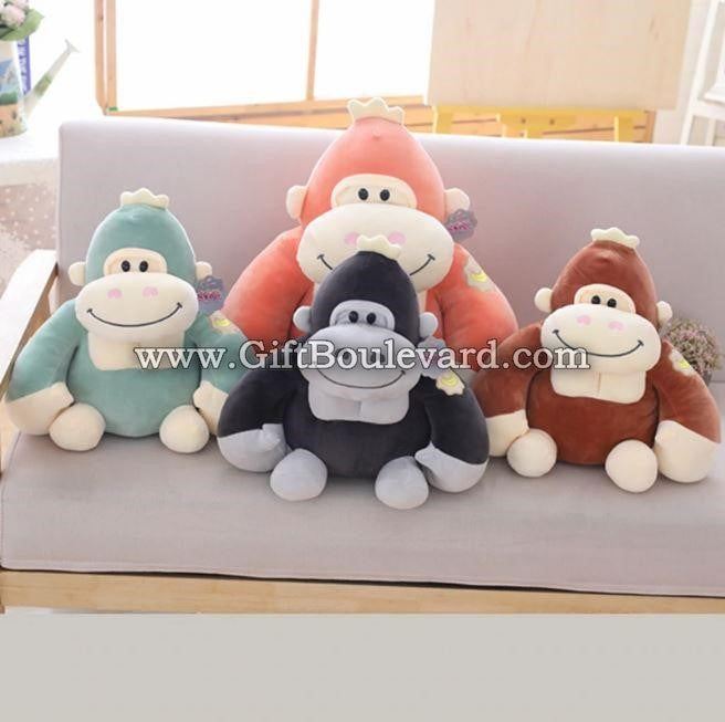 Lovely Monkey Gorilla Plush toy Cute Simulation King Kong Apes Pillow Stuffed Toy