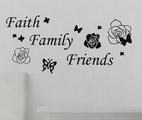 Faith Family Friends Wall Sticker