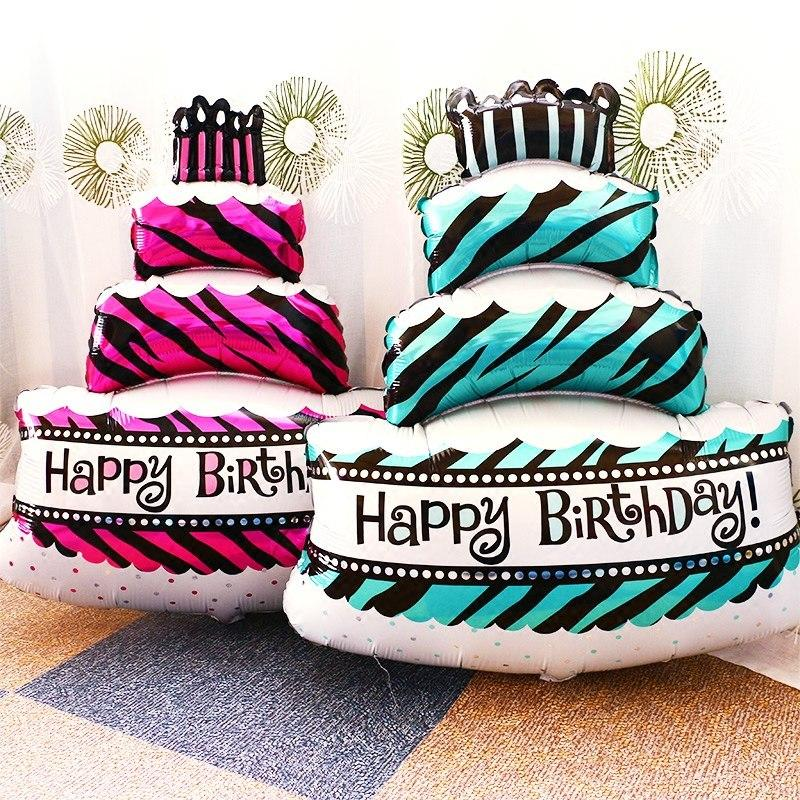 Happy Birthday Big Cake 59.5X86CM Foil Balloon