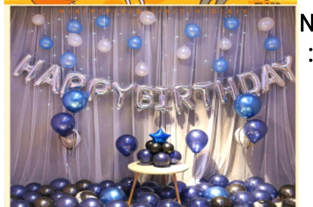 Blue Silver Birthday Package