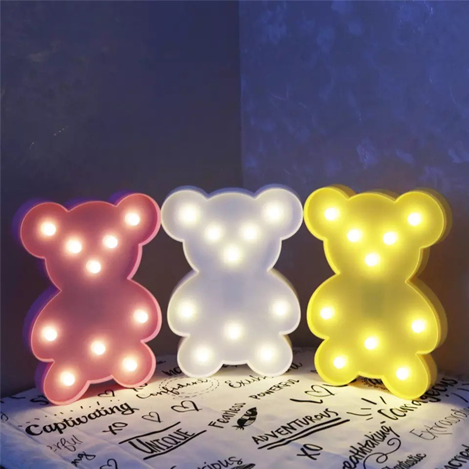 LED Bear Night Lights Lamp