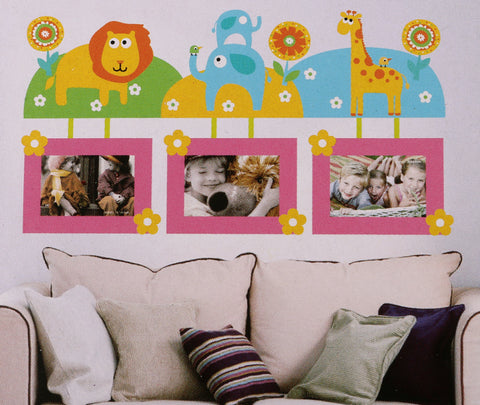 Jungle Photo Frame Wall Sticker