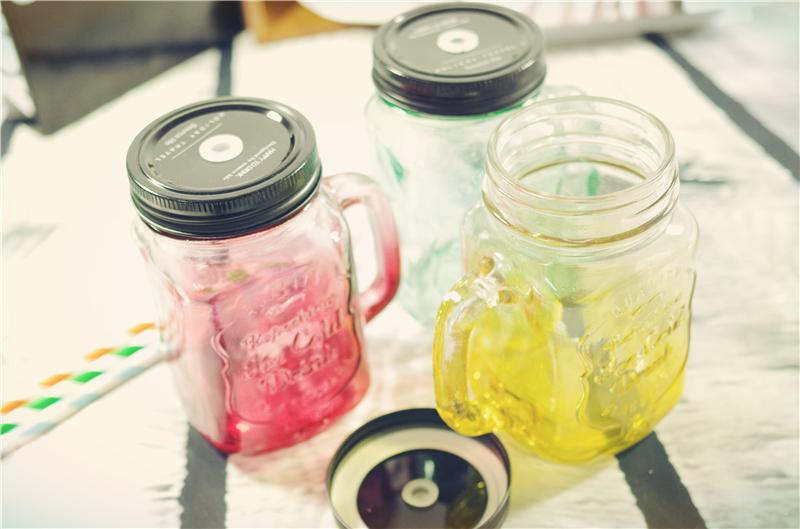Straw Glass Fruit Juice Ice Cream Clear Cold Drink Mason Jar