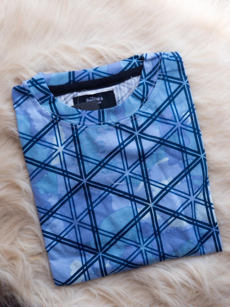 Blue Geometric T-Shirt