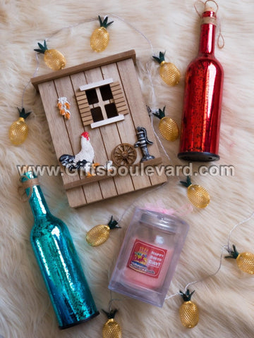 Bottle Lamp, Key Holders, Scented Candles and Fairy Lights