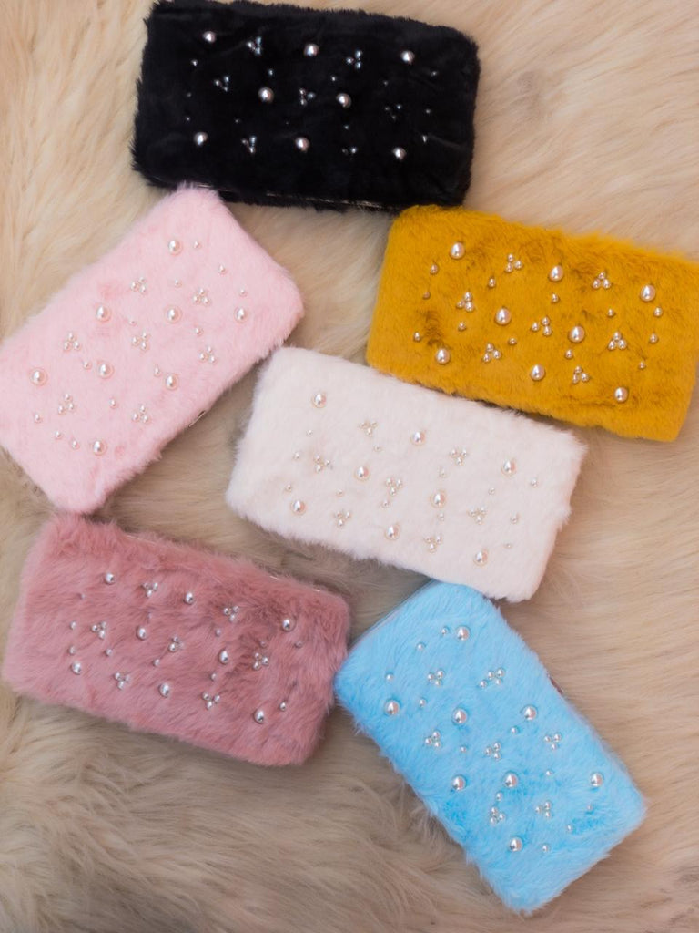 Pearl Fur Wallet