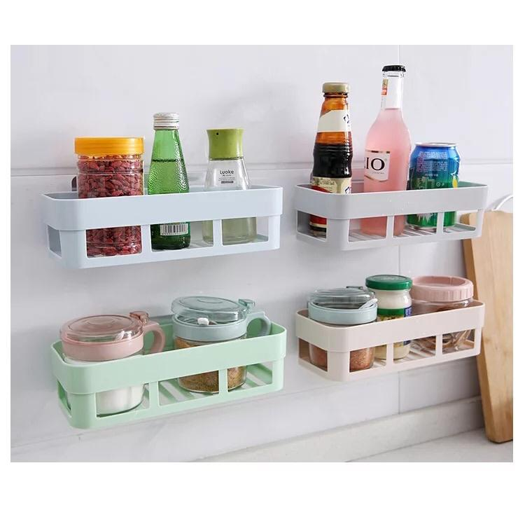 1PC Bathroom Storage Rack Wall Hanging Corner Shower Shelf Kitchen Storage Rack Holder Bath Desk Makeup Organizer Wall Decoration