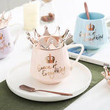 300ml Cute Crown Mug Ceramic Coffee Mugs Girly Pink Coffee Milk Water Cup Best Xmas Gift Milk