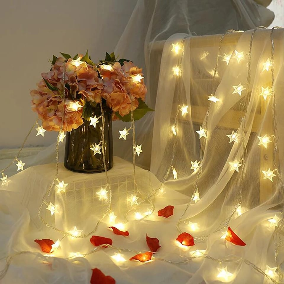 20 BIG STAR LED STRING FAIRY LIGHT