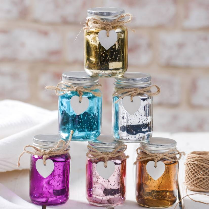 Mini Metallic LED Firefly Jar