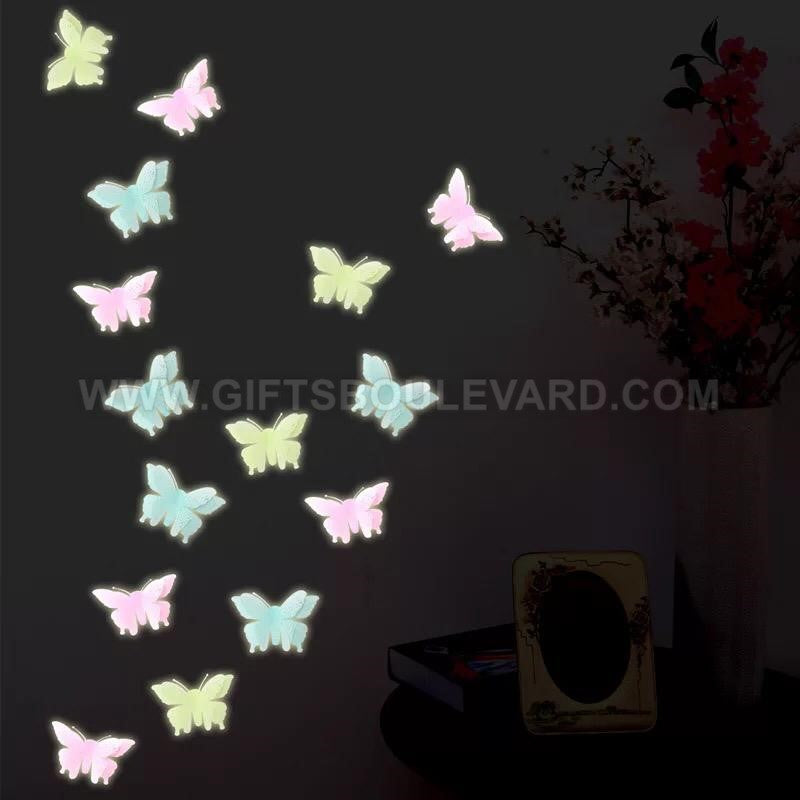 12 Pcs Glow In The Dark Butterfly