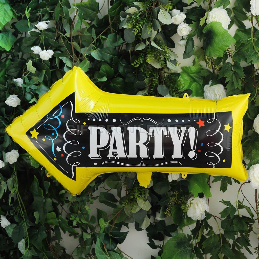 Party Sign Arrow Foil Balloons