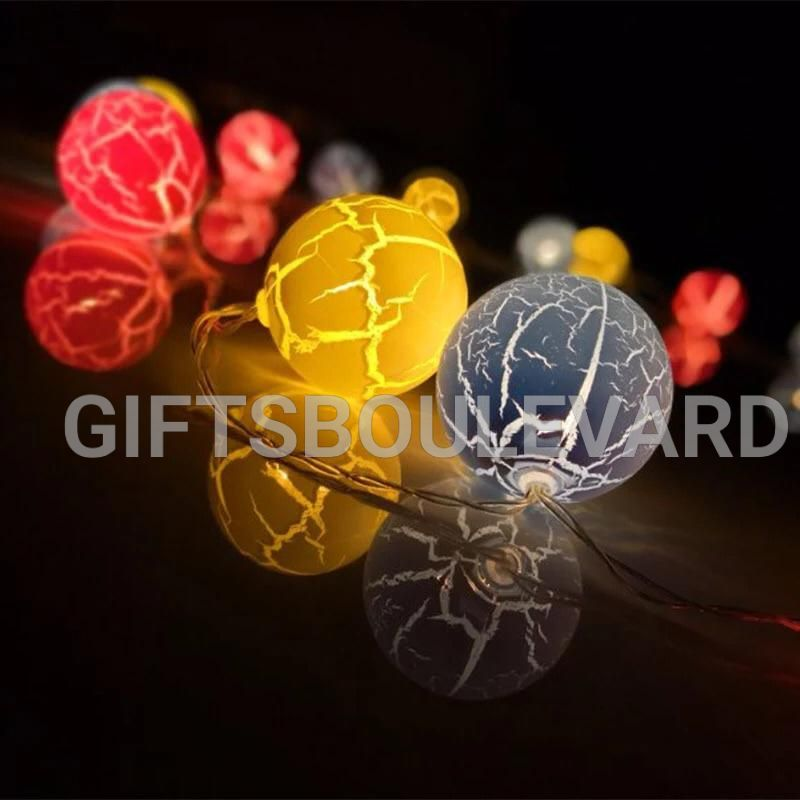 Crack Ball Star Lamp Battery LED Fairy String Light
