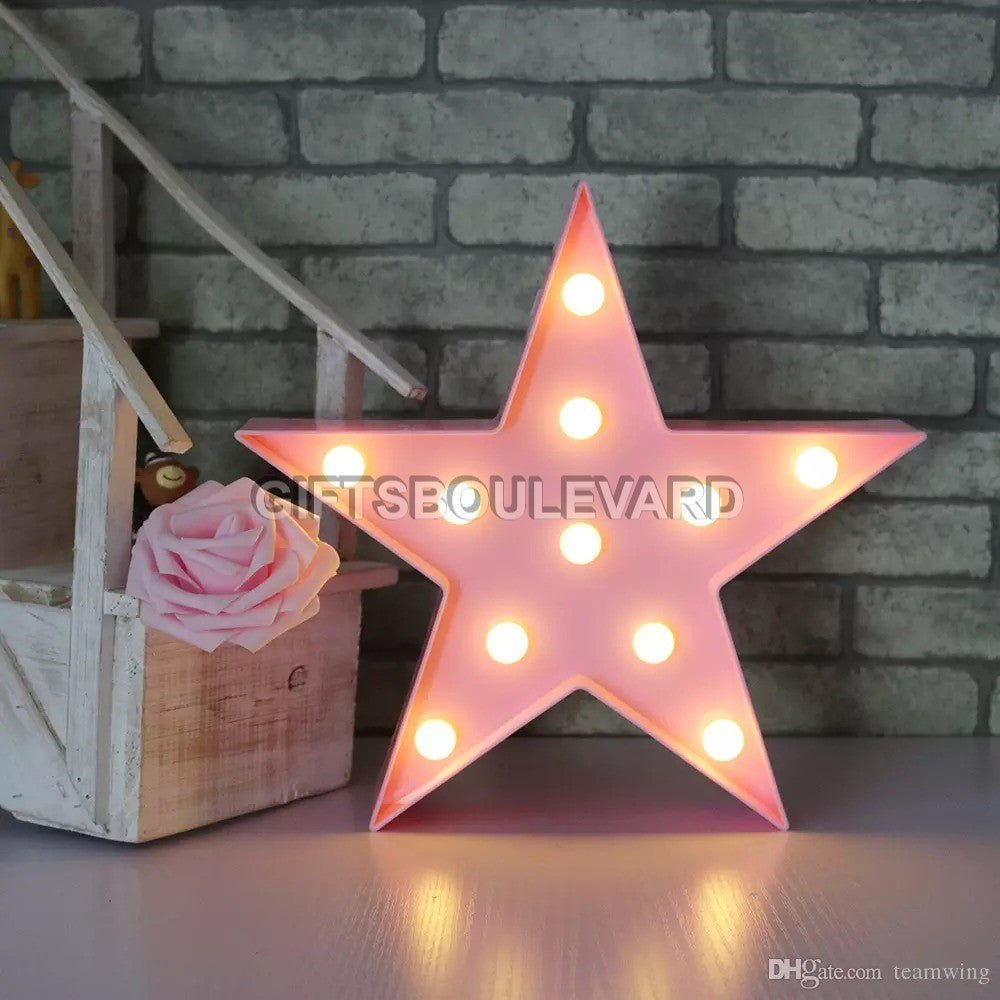 Battery Operated Star Marque Table Lamp